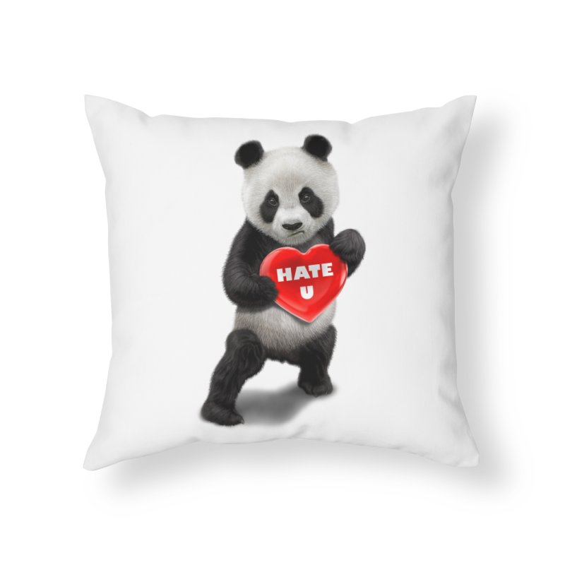 I LOVE U, I HATE YOU Home Throw Pillow by gallerianarniaz's Artist Shop