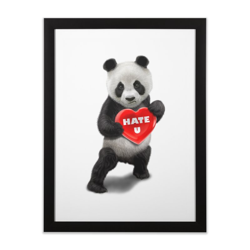 I LOVE U, I HATE YOU Home Framed Fine Art Print by gallerianarniaz's Artist Shop