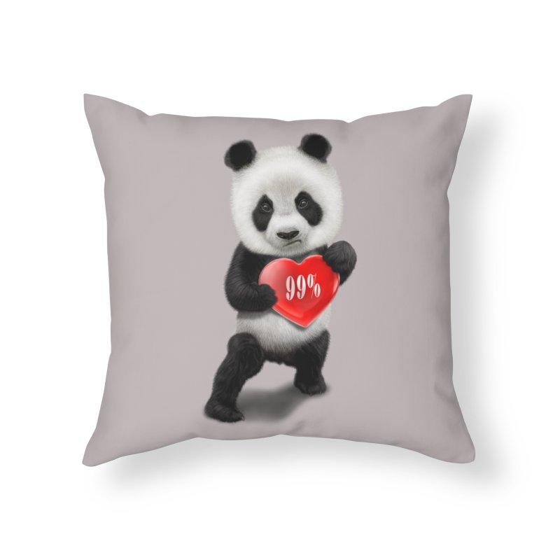 99% Home Throw Pillow by gallerianarniaz's Artist Shop