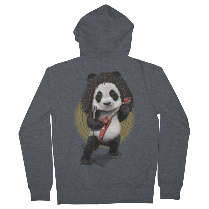 PANDA ROCKER 2017 Men's Zip-Up Hoody by gallerianarniaz's Artist Shop