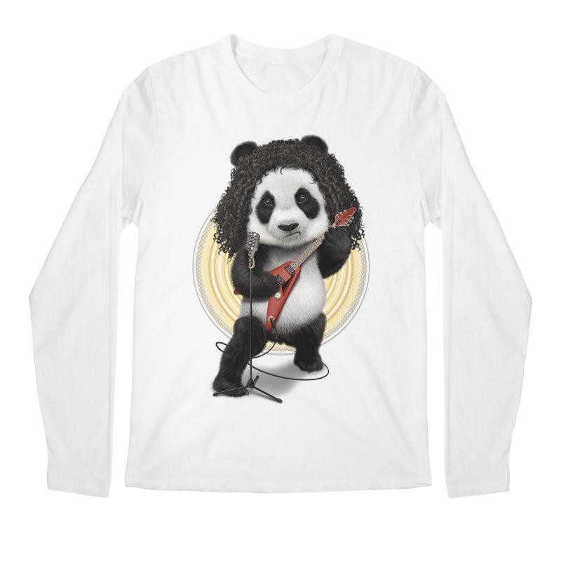 PANDA ROCKER 2017 Men's Longsleeve T-Shirt by gallerianarniaz's Artist Shop
