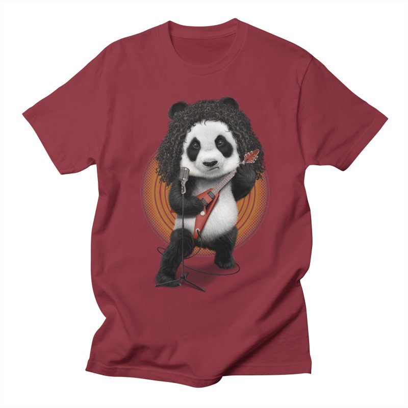 PANDA ROCKER 2017 Men's T-shirt by gallerianarniaz's Artist Shop