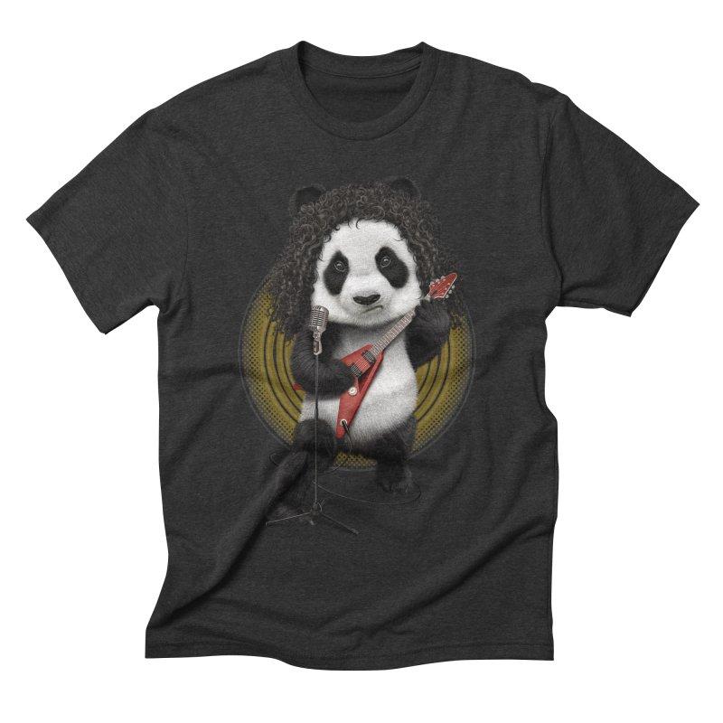 PANDA ROCKER 2017 Men's Triblend T-Shirt by gallerianarniaz's Artist Shop