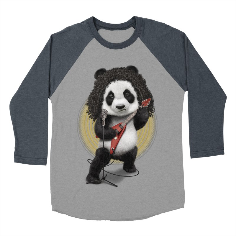 PANDA ROCKER 2017 Men's Baseball Triblend T-Shirt by gallerianarniaz's Artist Shop