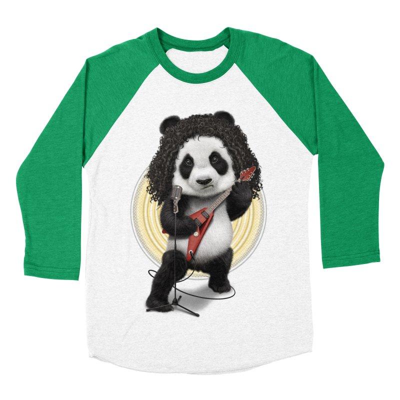 PANDA ROCKER 2017 Men's Baseball Triblend T-Shirt by gallerianarniaz's Artist Shop