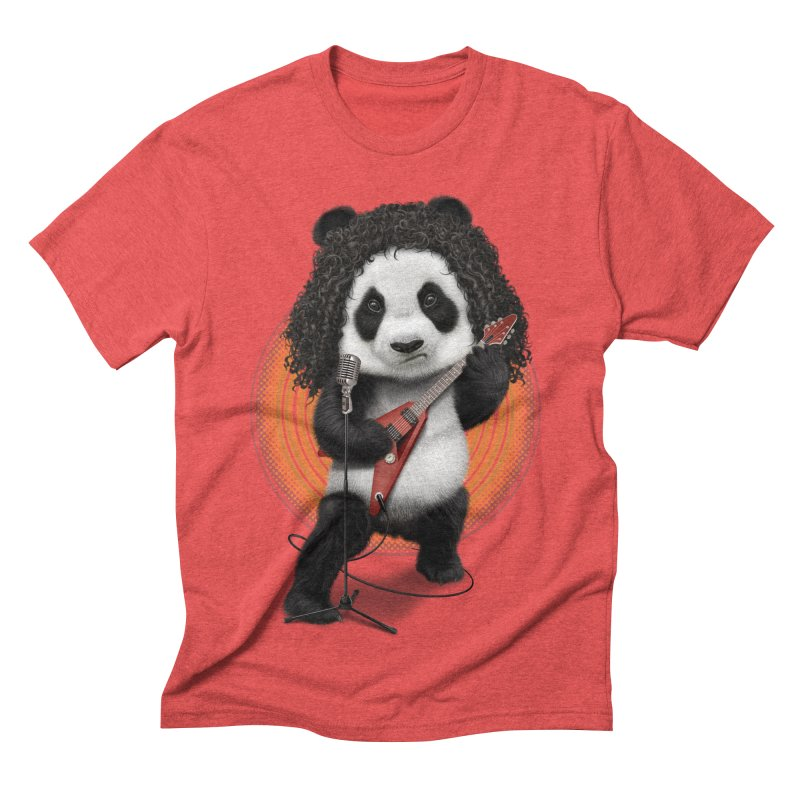 PANDA ROCKER 2017 Men's Triblend T-shirt by gallerianarniaz's Artist Shop