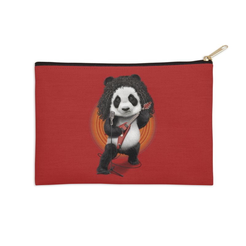 PANDA ROCKER 2017 Accessories Zip Pouch by gallerianarniaz's Artist Shop