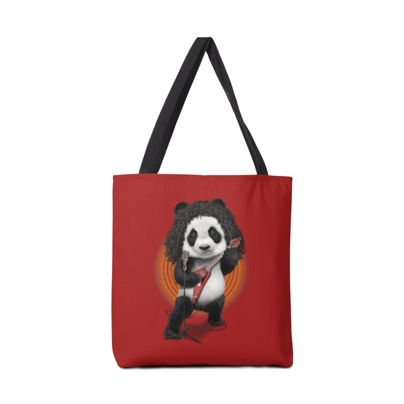 PANDA ROCKER 2017 Accessories Bag by gallerianarniaz's Artist Shop