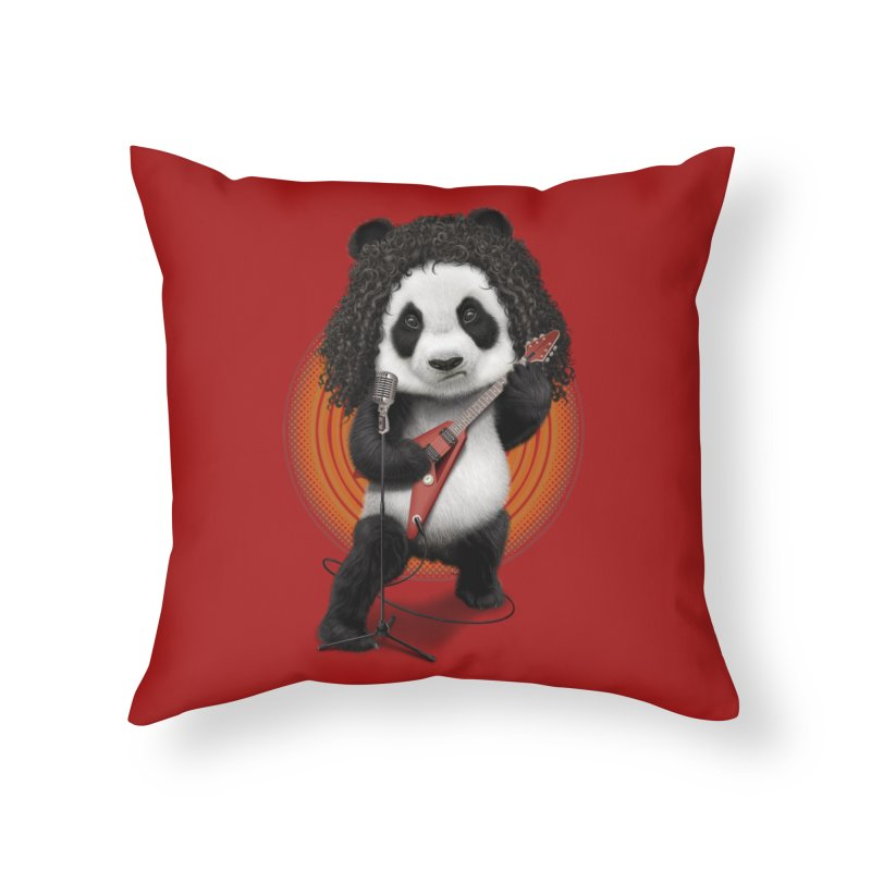 PANDA ROCKER 2017 Home Throw Pillow by gallerianarniaz's Artist Shop