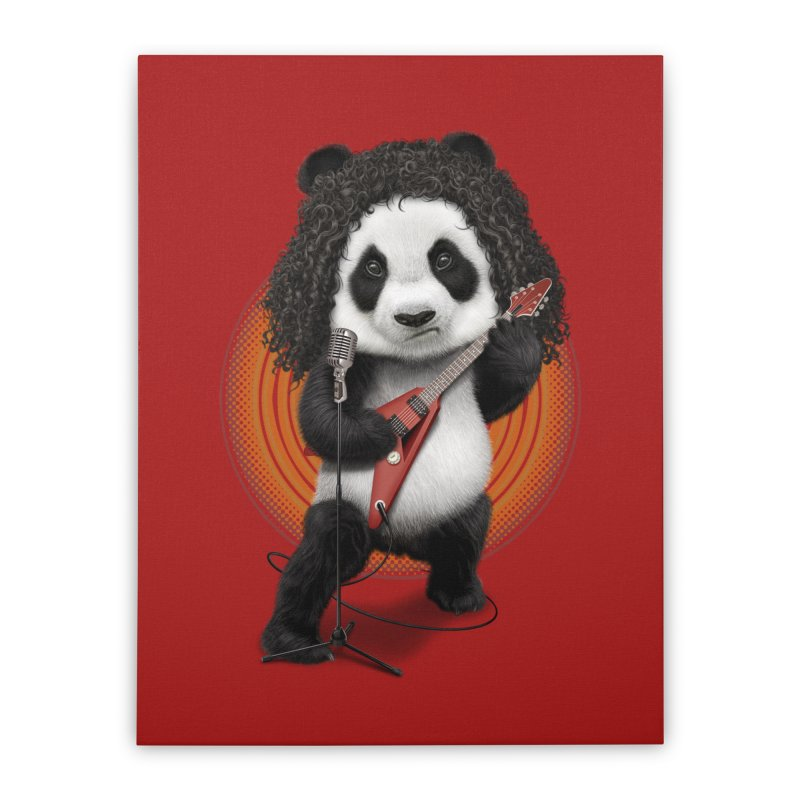 PANDA ROCKER 2017 Home Stretched Canvas by gallerianarniaz's Artist Shop