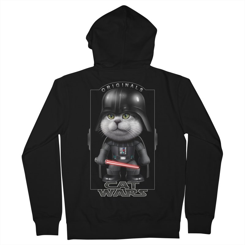 CAT VADER ORIGINALS Men's Zip-Up Hoody by gallerianarniaz's Artist Shop