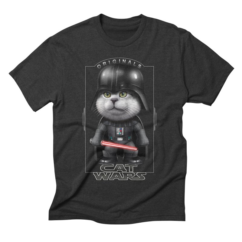 CAT VADER ORIGINALS Men's Triblend T-shirt by gallerianarniaz's Artist Shop