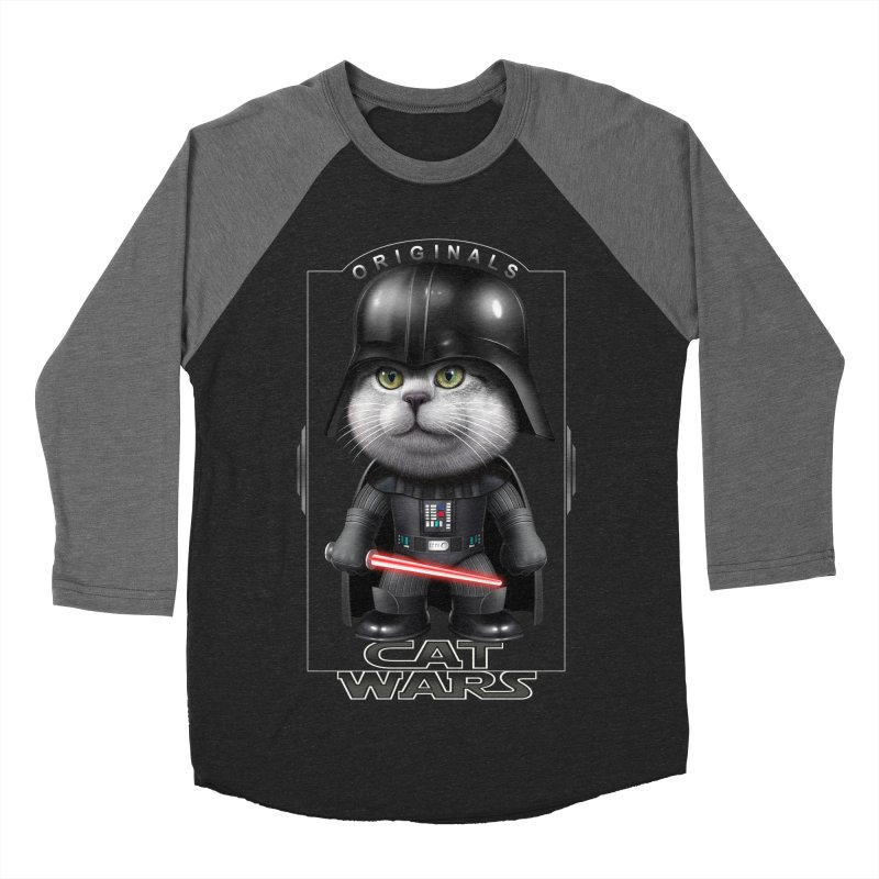 CAT VADER ORIGINALS Men's Baseball Triblend T-Shirt by gallerianarniaz's Artist Shop