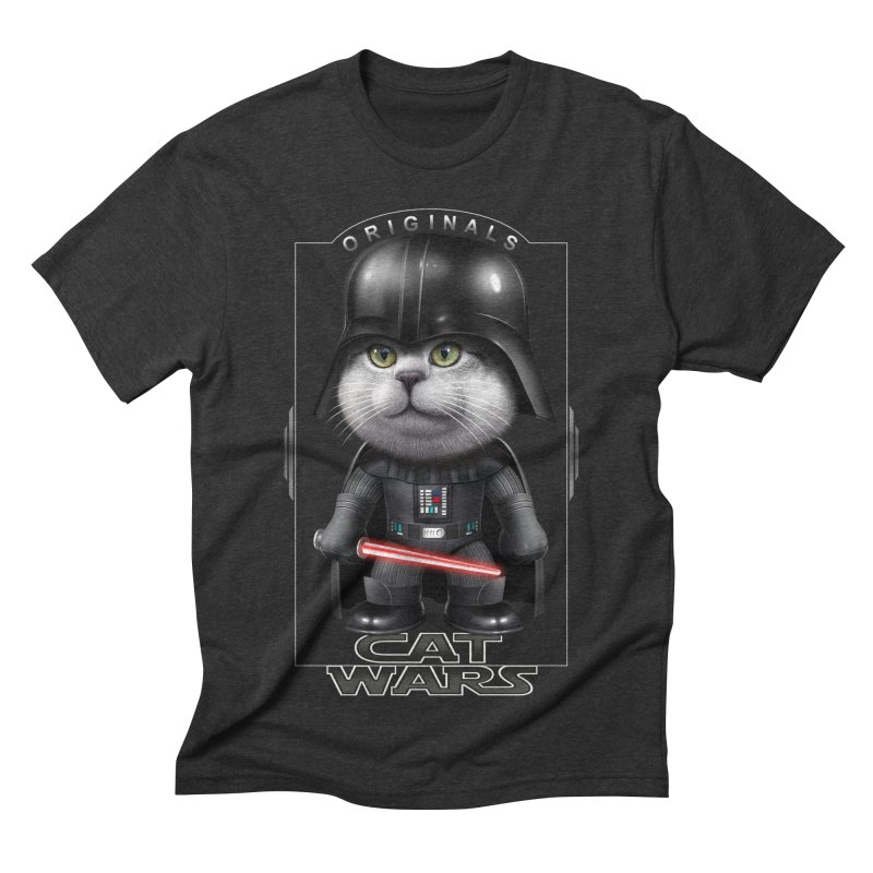 CAT VADER ORIGINALS Men's Triblend T-shirt by gallerianarniaz's Artist Shop