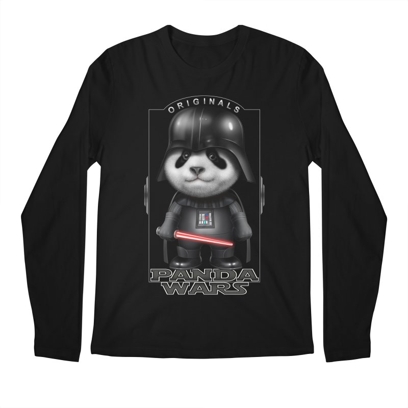 DARTH PANDA - ORIGINALS Men's Longsleeve T-Shirt by gallerianarniaz's Artist Shop