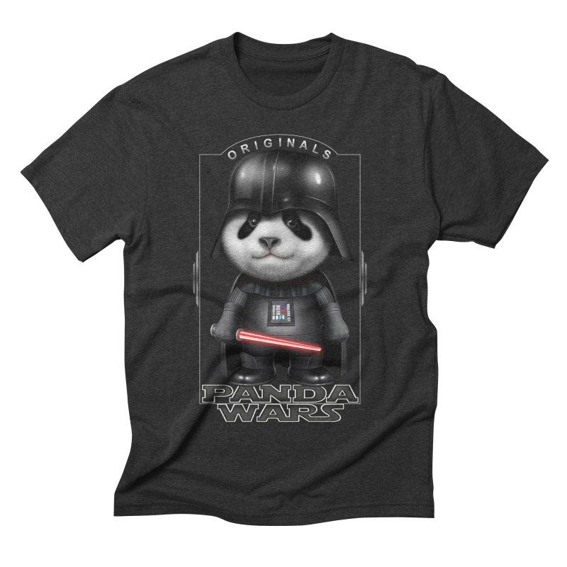 DARTH PANDA - ORIGINALS Men's Triblend T-shirt by gallerianarniaz's Artist Shop