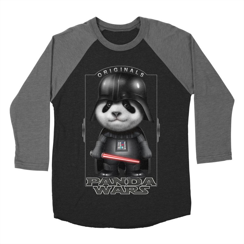 DARTH PANDA - ORIGINALS Men's Baseball Triblend T-Shirt by gallerianarniaz's Artist Shop