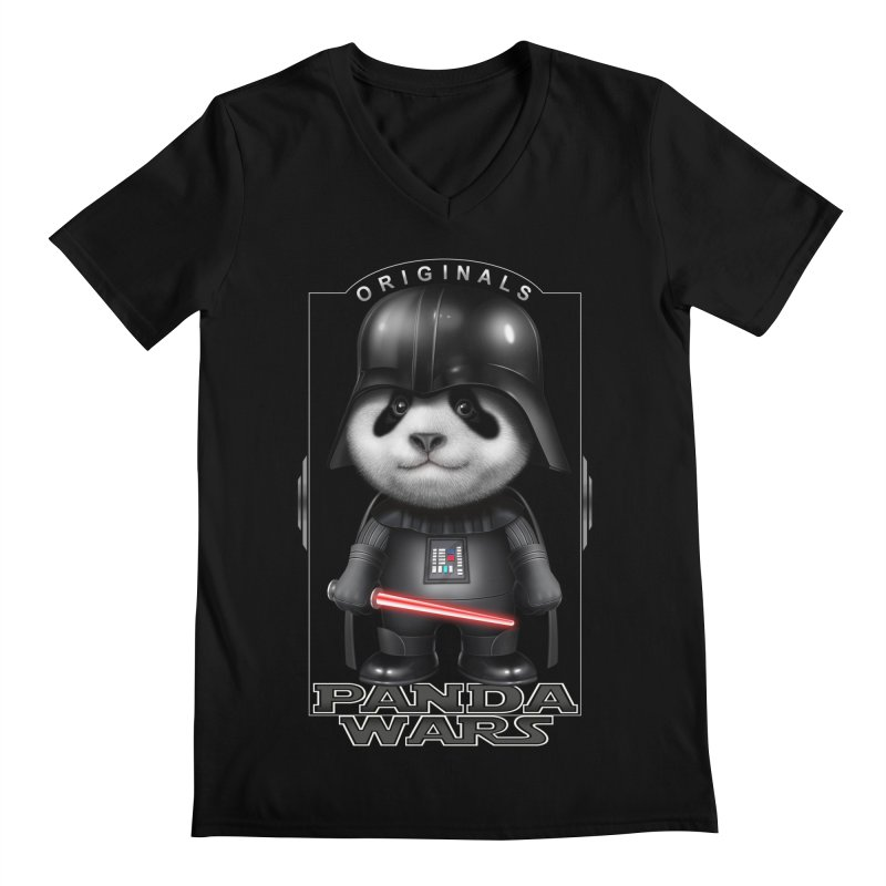 DARTH PANDA - ORIGINALS Men's V-Neck by gallerianarniaz's Artist Shop