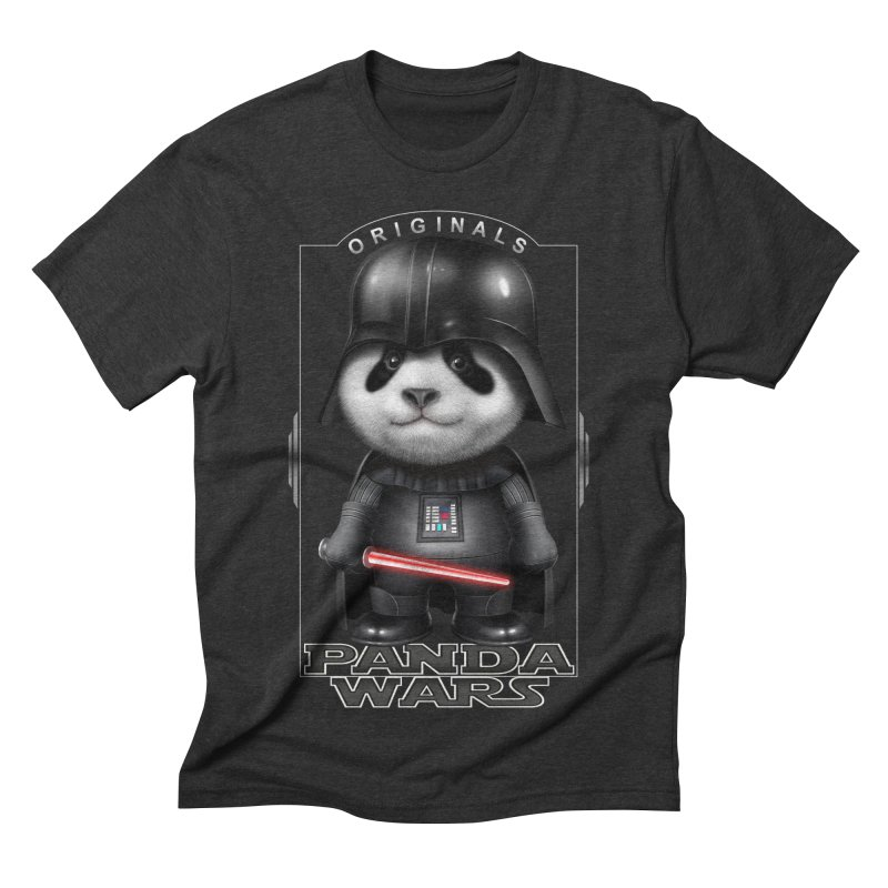 DARTH PANDA - ORIGINALS Men's Triblend T-shirt by gallerianarniaz's Artist Shop