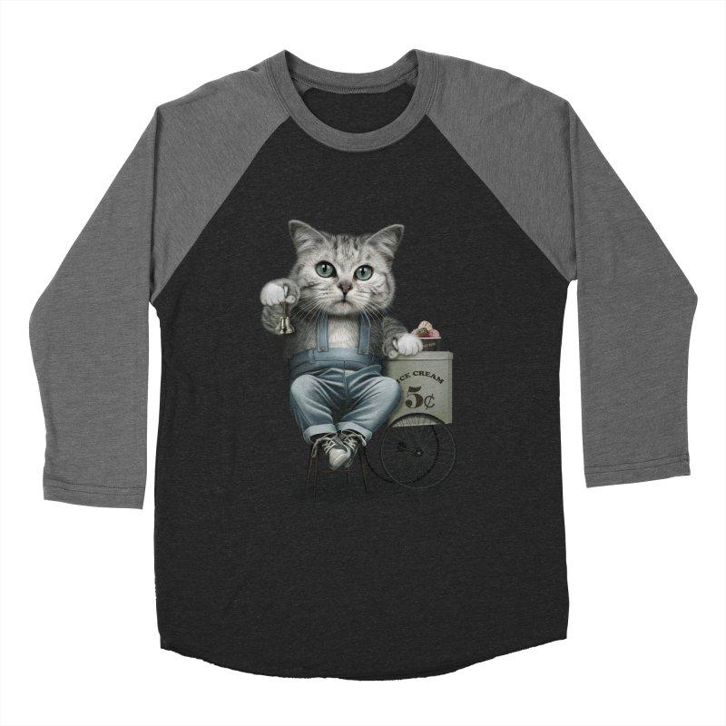 ICE CREAM SELLER Women's Baseball Triblend T-Shirt by gallerianarniaz's Artist Shop