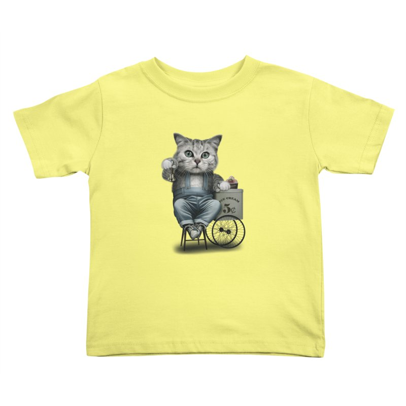 ICE CREAM SELLER Kids Toddler T-Shirt by gallerianarniaz's Artist Shop