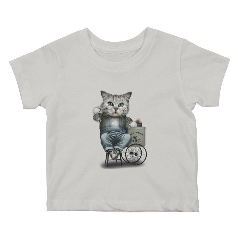 ICE CREAM SELLER Kids Baby T-Shirt by gallerianarniaz's Artist Shop