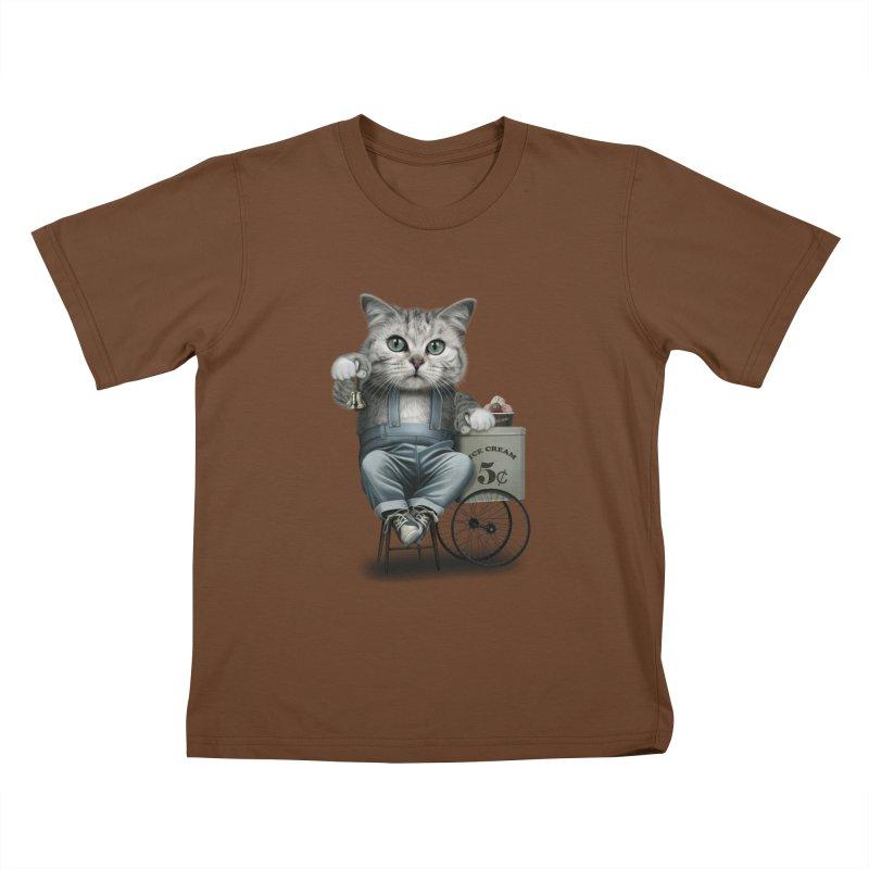 ICE CREAM SELLER Kids T-Shirt by gallerianarniaz's Artist Shop