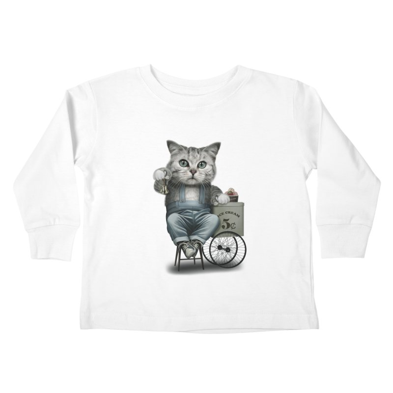 ICE CREAM SELLER Kids Toddler Longsleeve T-Shirt by gallerianarniaz's Artist Shop