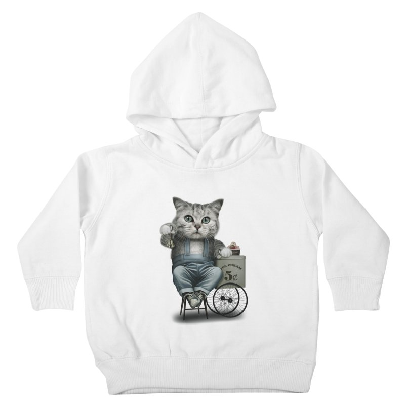 ICE CREAM SELLER Kids Toddler Pullover Hoody by gallerianarniaz's Artist Shop
