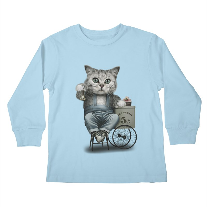 ICE CREAM SELLER Kids Longsleeve T-Shirt by gallerianarniaz's Artist Shop