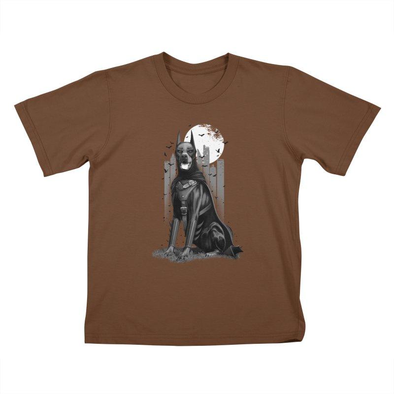 DOBERMAN Kids T-shirt by gallerianarniaz's Artist Shop