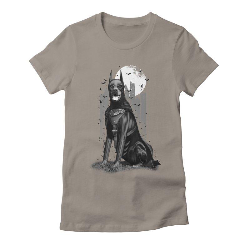 DOBERMAN Women's Fitted T-Shirt by gallerianarniaz's Artist Shop