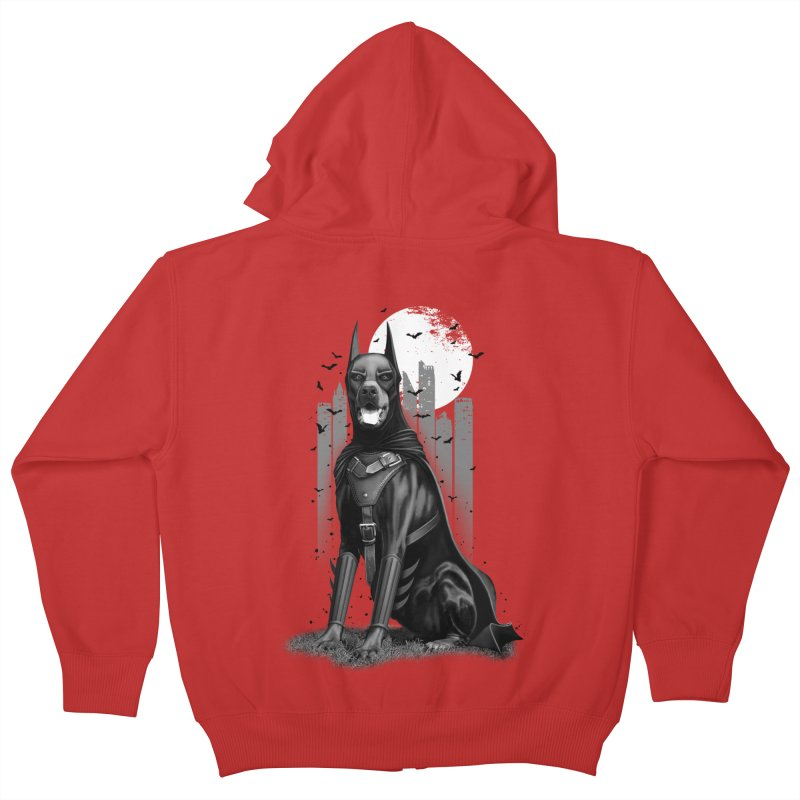DOBERMAN Kids Zip-Up Hoody by gallerianarniaz's Artist Shop