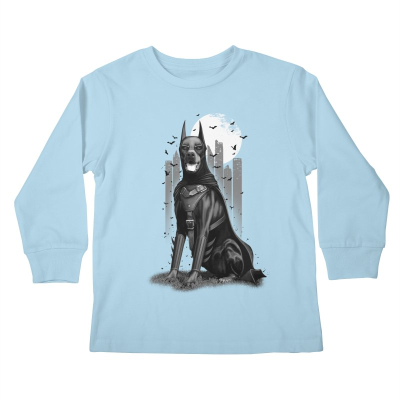 DOBERMAN Kids Longsleeve T-Shirt by gallerianarniaz's Artist Shop