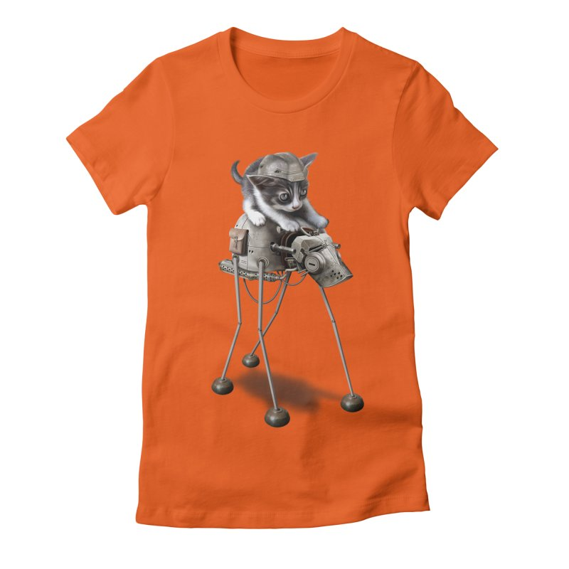 PROTECTOR 2015 Women's Fitted T-Shirt by gallerianarniaz's Artist Shop