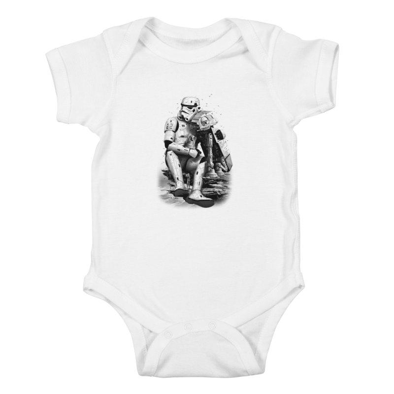 BY THE BEACH Kids Baby Bodysuit by gallerianarniaz's Artist Shop