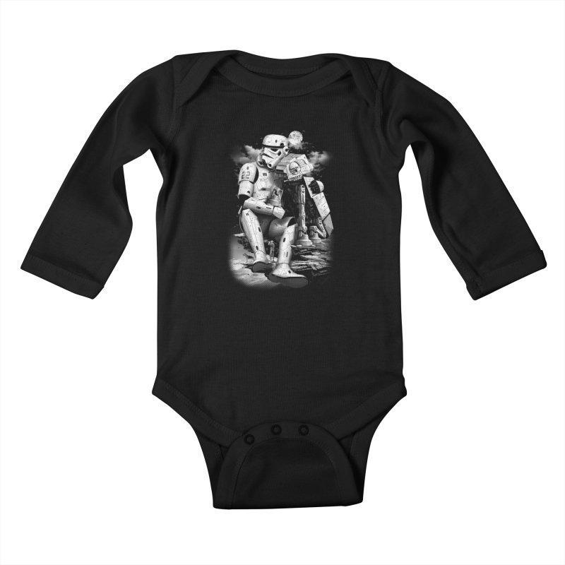 BY THE BEACH Kids Baby Longsleeve Bodysuit by gallerianarniaz's Artist Shop