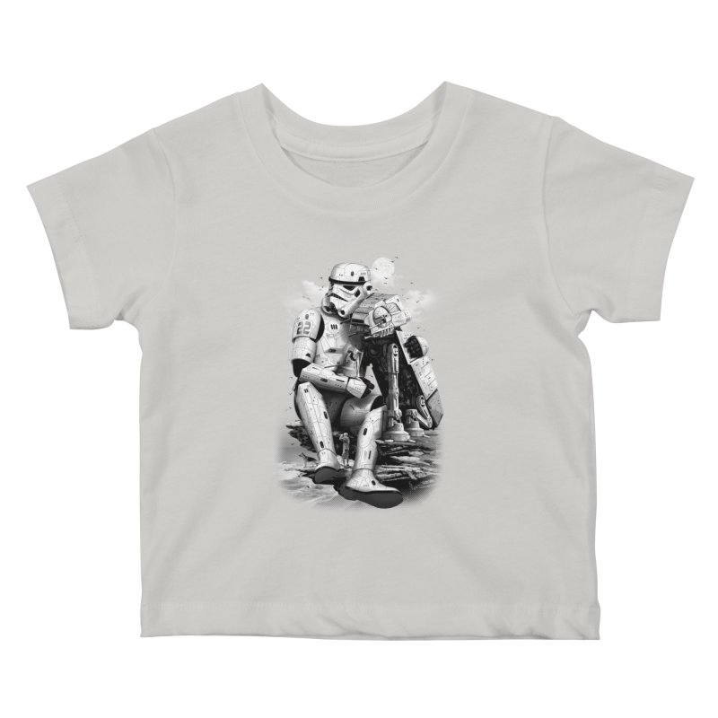 BY THE BEACH Kids Baby T-Shirt by gallerianarniaz's Artist Shop