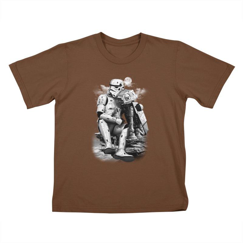 BY THE BEACH Kids T-shirt by gallerianarniaz's Artist Shop