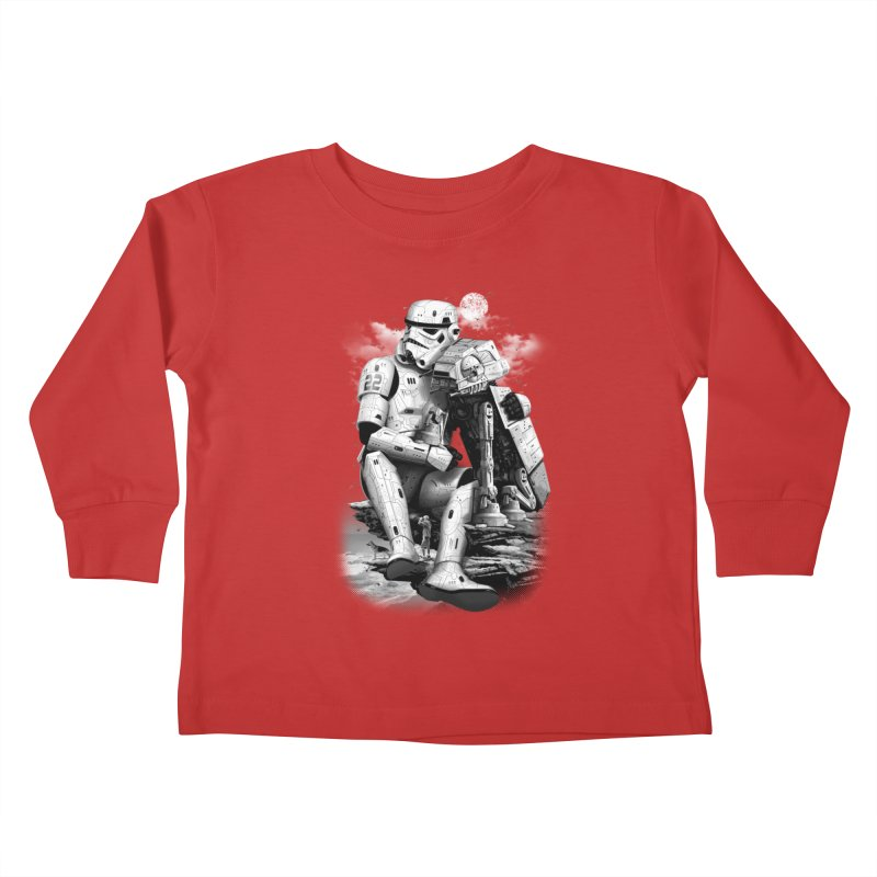 BY THE BEACH Kids Toddler Longsleeve T-Shirt by gallerianarniaz's Artist Shop