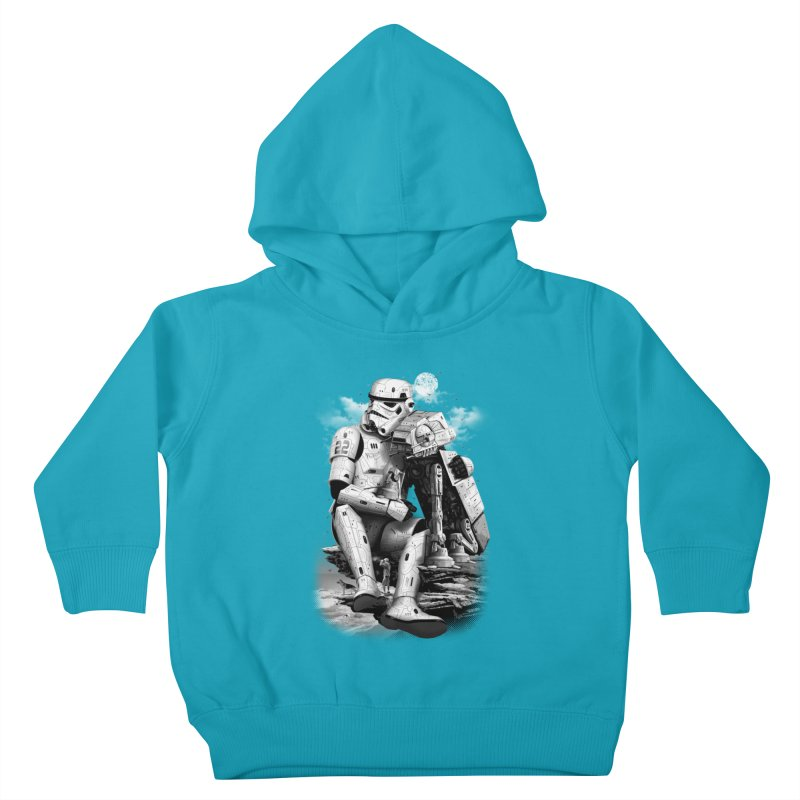 BY THE BEACH Kids Toddler Pullover Hoody by gallerianarniaz's Artist Shop