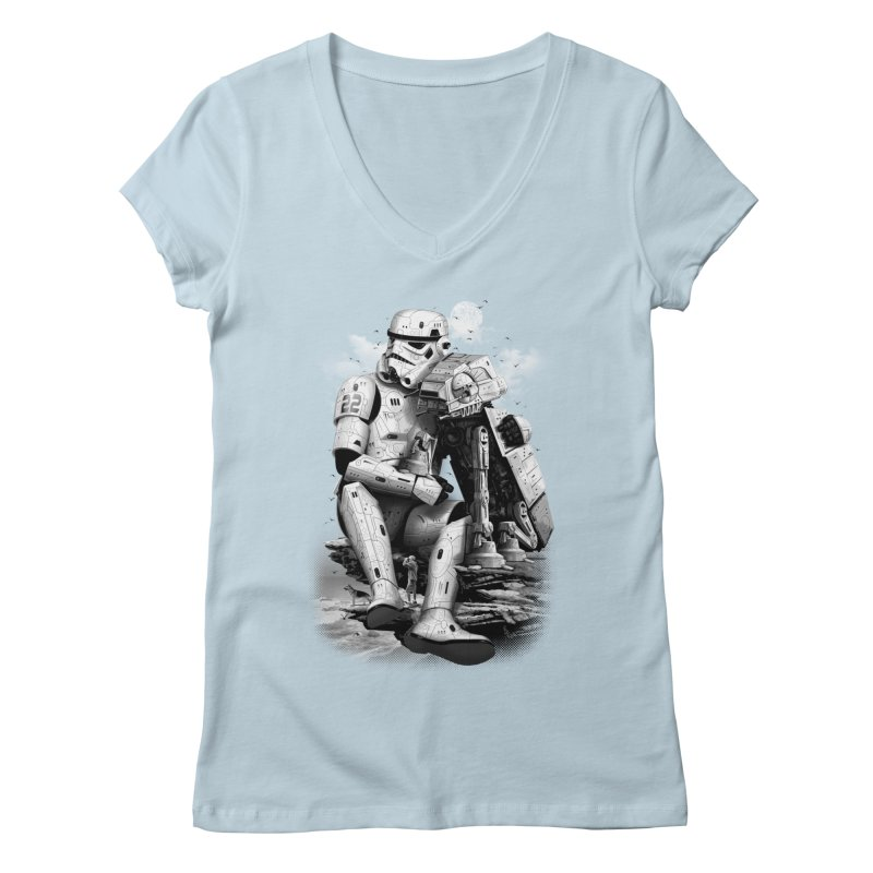 BY THE BEACH Women's V-Neck by gallerianarniaz's Artist Shop