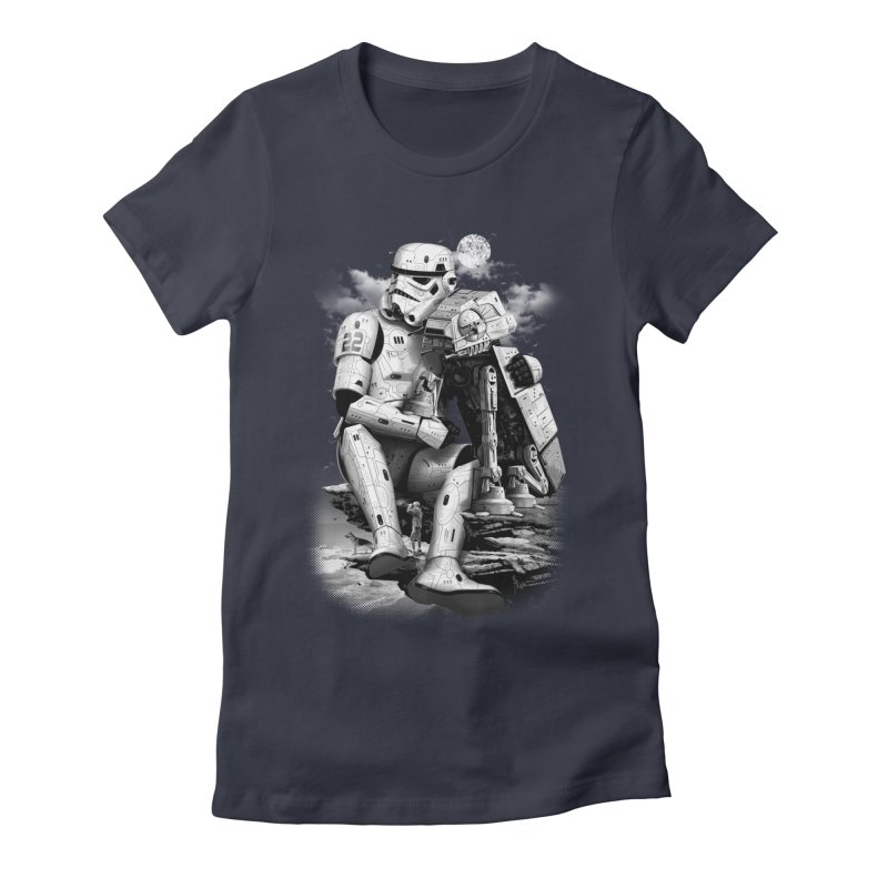 BY THE BEACH Women's Fitted T-Shirt by gallerianarniaz's Artist Shop