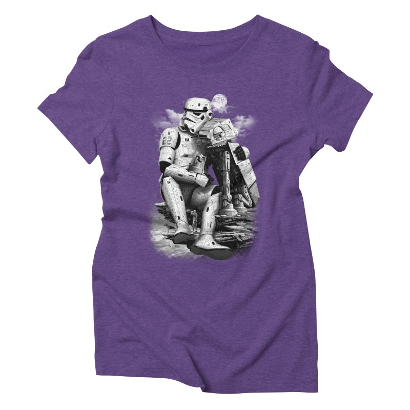 BY THE BEACH Women's Triblend T-Shirt by gallerianarniaz's Artist Shop