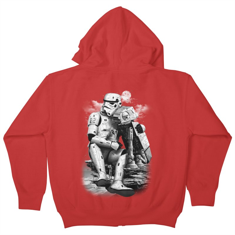 BY THE BEACH Kids Zip-Up Hoody by gallerianarniaz's Artist Shop