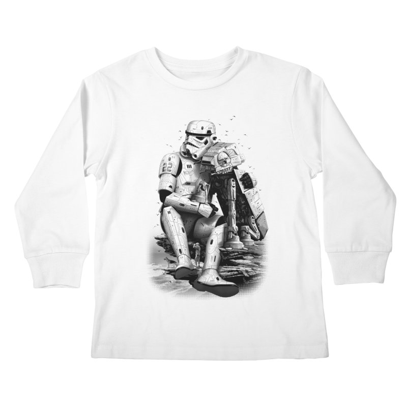 BY THE BEACH Kids Longsleeve T-Shirt by gallerianarniaz's Artist Shop