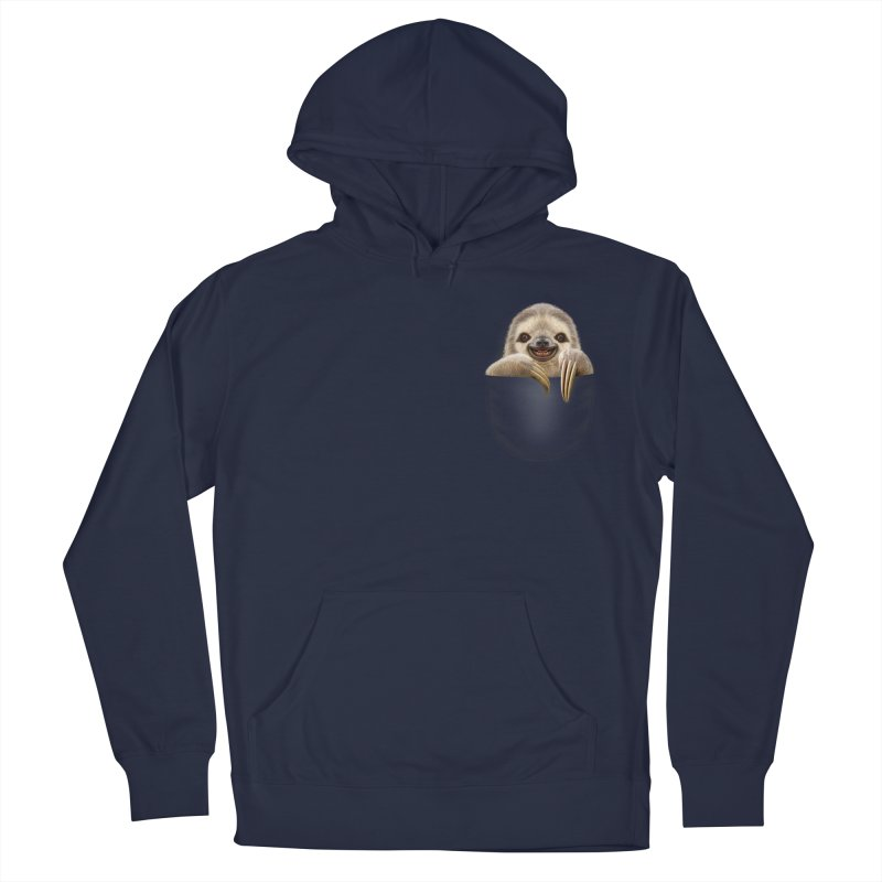 POCKET SLOTH Women's Pullover Hoody by gallerianarniaz's Artist Shop