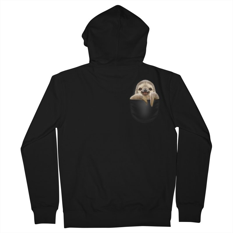POCKET SLOTH Women's Zip-Up Hoody by gallerianarniaz's Artist Shop