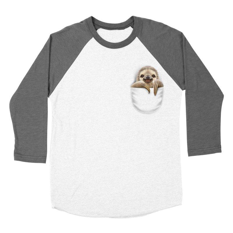 POCKET SLOTH Women's Baseball Triblend T-Shirt by gallerianarniaz's Artist Shop