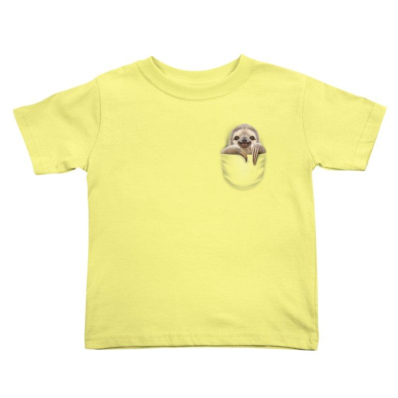 POCKET SLOTH Kids Toddler T-Shirt by gallerianarniaz's Artist Shop